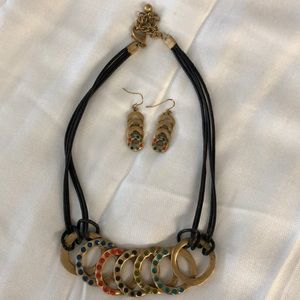 Fun Chico's Necklace & Earring Set